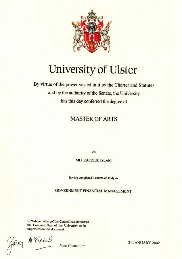 Masters of Arts