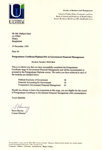 Post Graduate Diploma in Government Financial Management